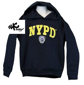 cf419a4d Details about Kids NYPD New York Police Department Embroidered Hoodie Navy  Sweatshirt XS-L