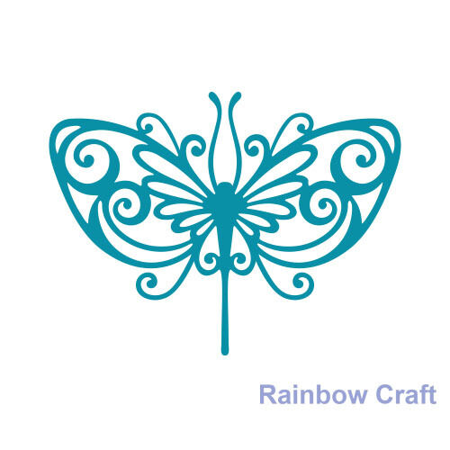 Couture Creations Intricutz Dies Stained Glass Butterfly