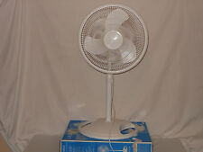 """Lasko 16"""" Oscillating Stand Fan Air Cooling Circulation 3-Speed White Tower"""