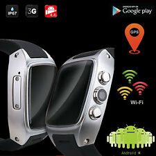 3G WiFi GPS Android 4.4 Smart Watch 4GB Phone Bluetooth Google Play Store US