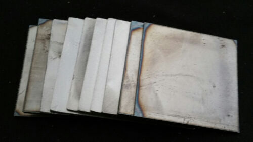 16GA Lot of 10-5 x 5 inch Square steel pieces project art custom work