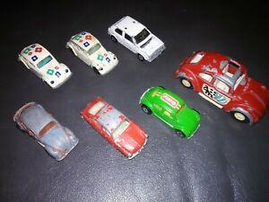 LOT-OF-7-RARE-Vintage-1970s-Volkswagen-VW-Beetle-Bugs-Diecast-METAL-Bottoms