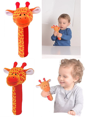 Plush Baby Toys Giraffe Squeakaboo Squeaker And Rattle Toy Uk Post Free Strengthening Sinews And Bones Toys For Baby