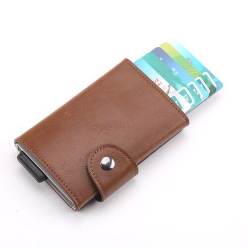 New Men Leather Pocket Wallet Slim Money Clip Front Thin Holder Card Credit