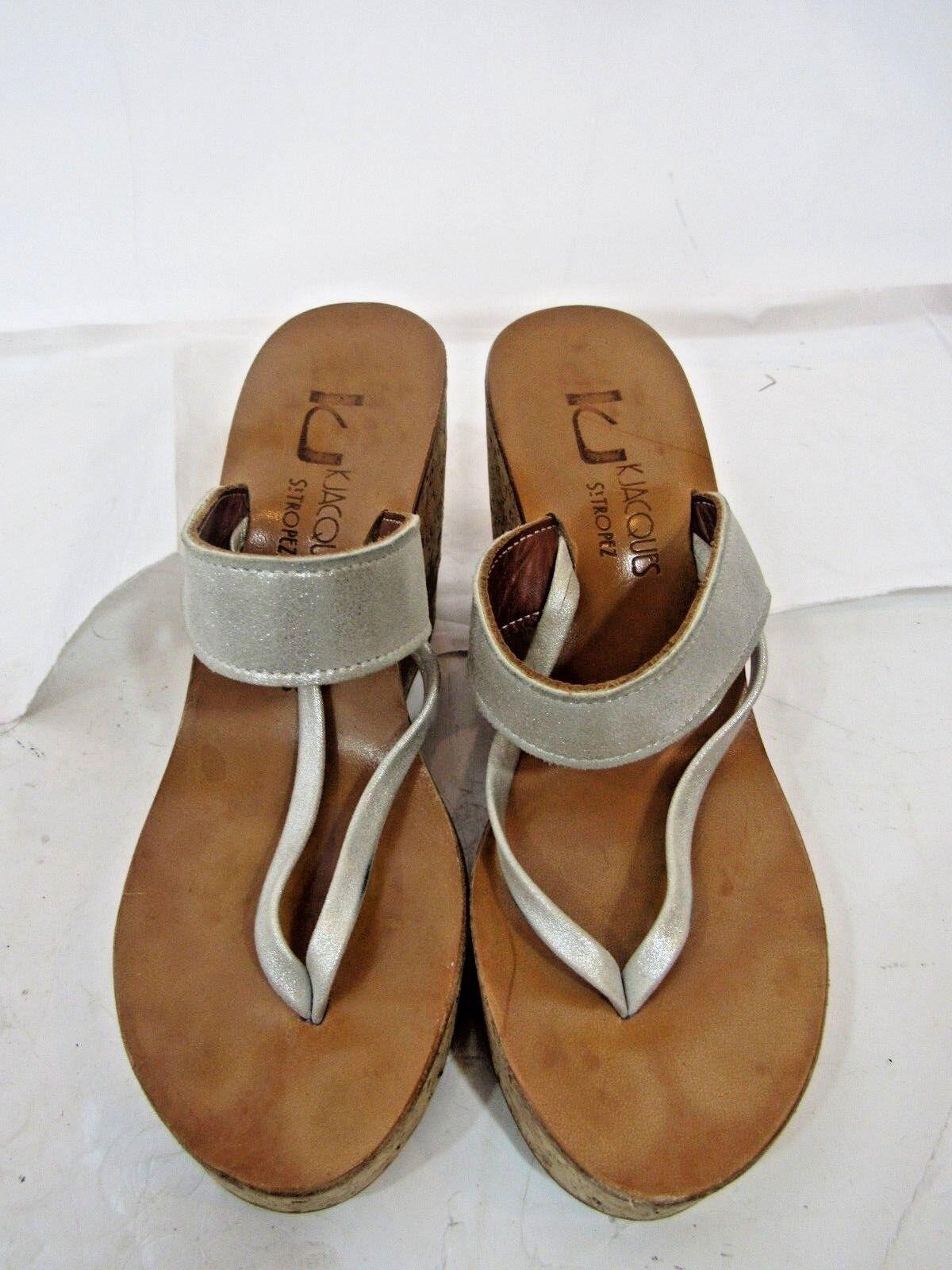 K. Jacques St. Tropez Sz 8 Cork Wedge shoes