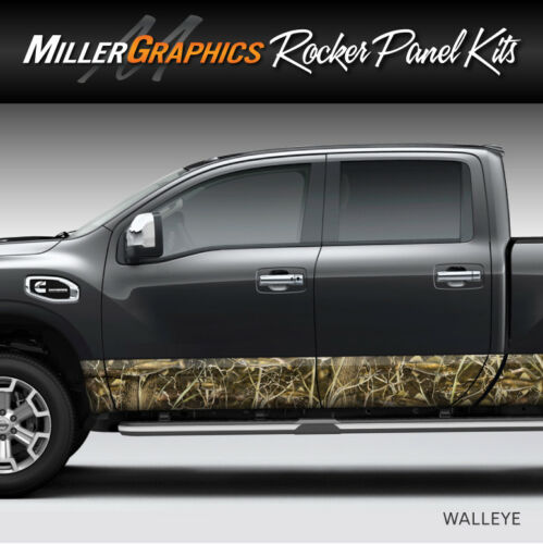 "Fish Camo /""Walleye/"" Rocker Panel Graphic Decal Wrap Kit Truck SUV 4 Sizes"