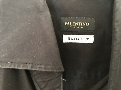 Clothing, Shoes & Accessories Men's Clothing Trend Mark Valentino Shirt Men Black Slim Fit Original Size 16.5/42 To Prevent And Cure Diseases