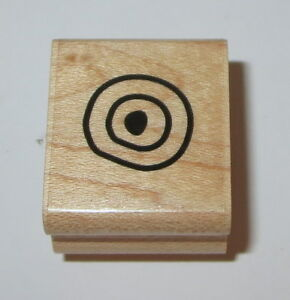 Circles-Rubber-Stamp-Background-Close-To-My-Heart-Wood-Mounted-Mini