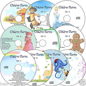 100-Childrens-Audio-Stories-on-10-CDs-Classic-Children-Kids-Fairy-Story-books