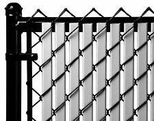 Chain Link Gray Double Wall Tube™ Privacy Slat For 6ft High Fence Bottom Lock