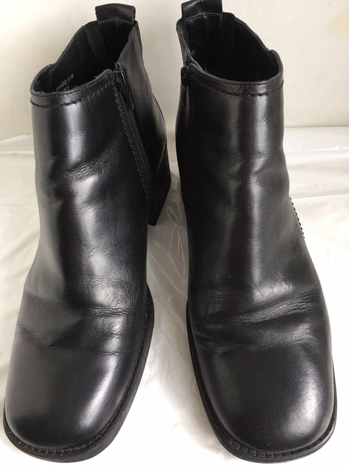 Womens Dockers Delaware Sz 9.5 Black Leather Ankl… - image 3