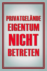 Privatgelande-Pas-Entrer-Pancarte-en-Tole-Signe-Metal-Etain-20-X-30-cm-CC1013