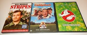 Lot-of-3-Bill-Murray-DVD-3-Discs-WS-Ghostbusters-Stripes-Caddyshack