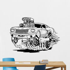 Racing Car Wall Decal Retro Muscle Off Road Vinyl Sticker Art Decor Mural 39thn