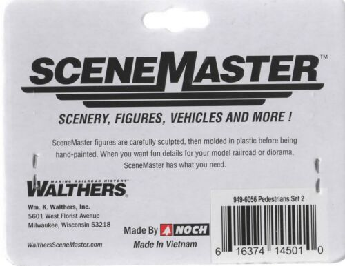 HO Scale Walthers SceneMaster 949-6058 Seated People Set #2 Figure Set pcs 6