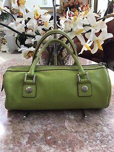 3a2cb492ff20 Michael Kors Vintage Lime Green Soft Leather Tote Satchel Handbag ...
