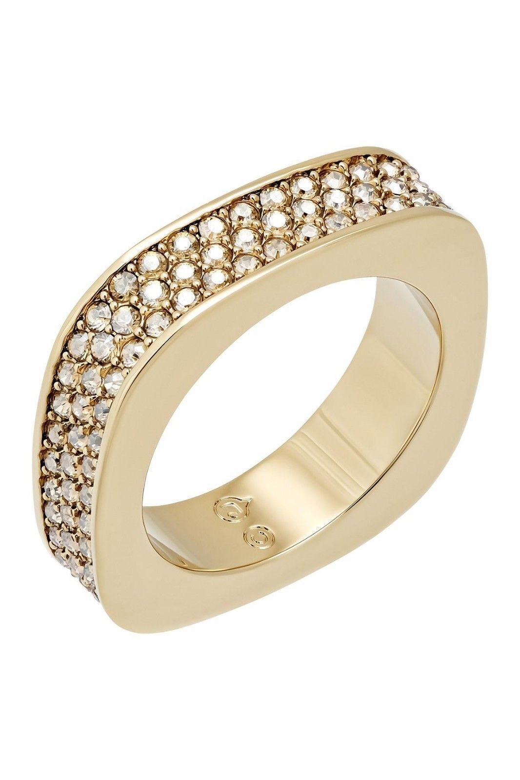 Swarovski Vio Ring gold Plated Swarovski Crystals Size 52 Small  UK size L