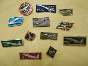 Russian Avia Concorde Pins Badges -set 2