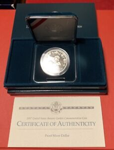 1997-P $1 U.S Botanic Garden Commemorative Silver Dollar Choice Uncirculated