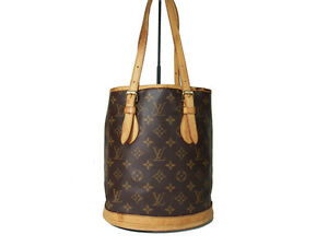 3b06e46c2d Auth LOUIS VUITTON BUCKET PM Monogram Canvas Tote bag, Shoulder bag ...
