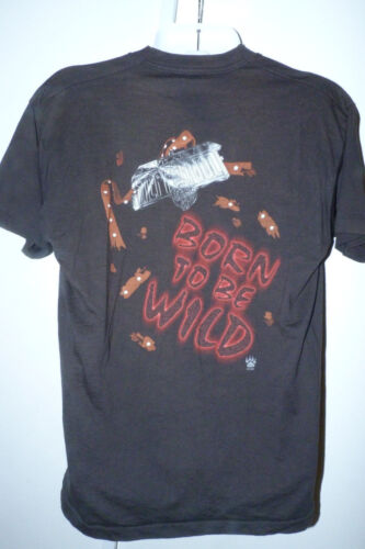 Vintage 1998 STEPPENWOLF Tour T-Shirt Born to Be Wild Rock Concert Black XL