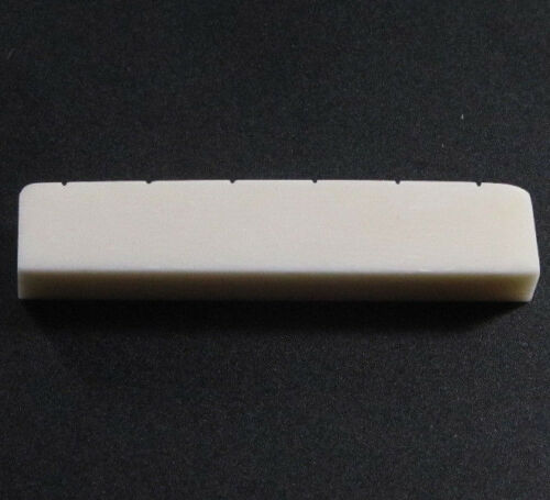 Left-Handed Bleached Slotted Bone Nut for Gibson® Electric