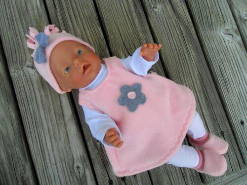 Kleidung 40-45 cm Puppenkleidung BLUME Jacke für Baby Puppen Jako Krümel Gr