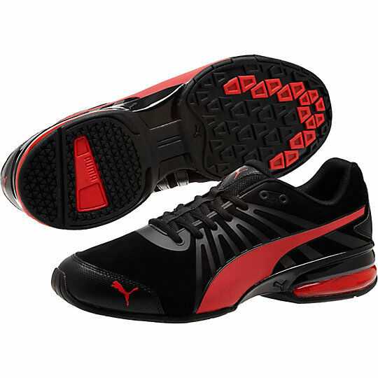 NEW** PUMA CELL KILTER NUBUCK MEN'S TRAINING SHOES Black Red 188955-02 Sneakers