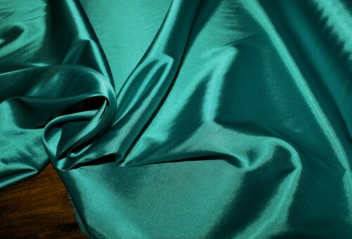 1M X 1.35M /'JADE/' MED SATIN FABRIC WITH GIVE STRETCH