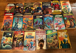 20 sci-fi books Piers Anthony mass market pbs fantasy other worlds heroes time