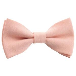 Enfants-Garcons-Vintage-Rose-Blush-Peche-a-Elastique-Coton-Noeud-Cravate-UK