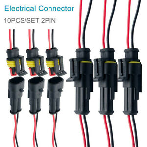 10-pair-Waterproof-12V-2-pin-Electrical-Wire-Connector-Plug-Cable-Car-Boat-Set