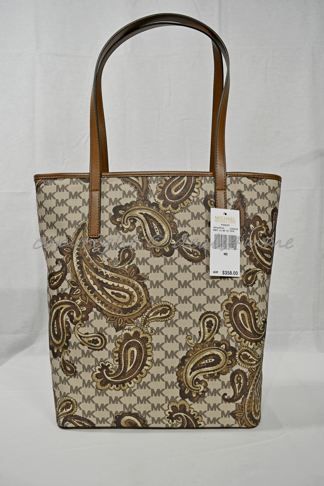 07a97797b2d4fe 100 Auth Michael Kors Emry Large North/south Heritage Paisley Tote Luggage  for sale online | eBay