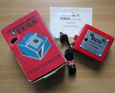 TITAN Type 801 GL Autorennbahn-Transformator 12 Volt Trafo Transformer vintage