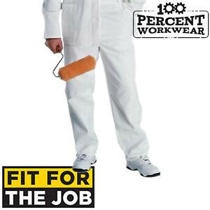 Audacieux Qualité Professionnelle Peintres Décorateurs Du Commerce En Coton Blanc Pantalons De Travail Pantalons Pantalon-afficher Le Titre D'origine