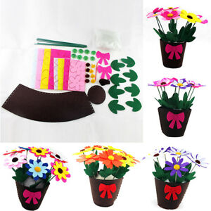 Handmade-EVA-Flower-Pot-Educational-Toy-Kids-DIY-Craft-Kits-For-Children-Girls