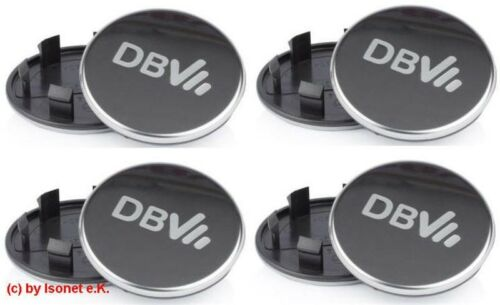 4 Original DBV Nabenkappe Grau//Silber Nabendeckel Felgendeckel 76mm DBV76 NEU