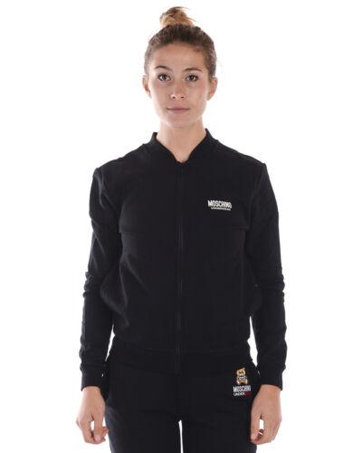 Sweatshirt 555 Cotone Felpa Hoodie Moschino Donna Nero Underwear A17119004 fxwEpwS