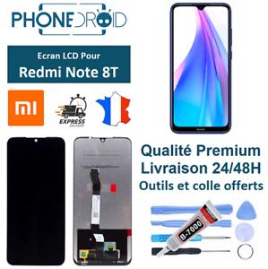 Ecran-complet-LCD-Tactile-Xiaomi-Redmi-Note-8T-Black-Outils-stock-FR