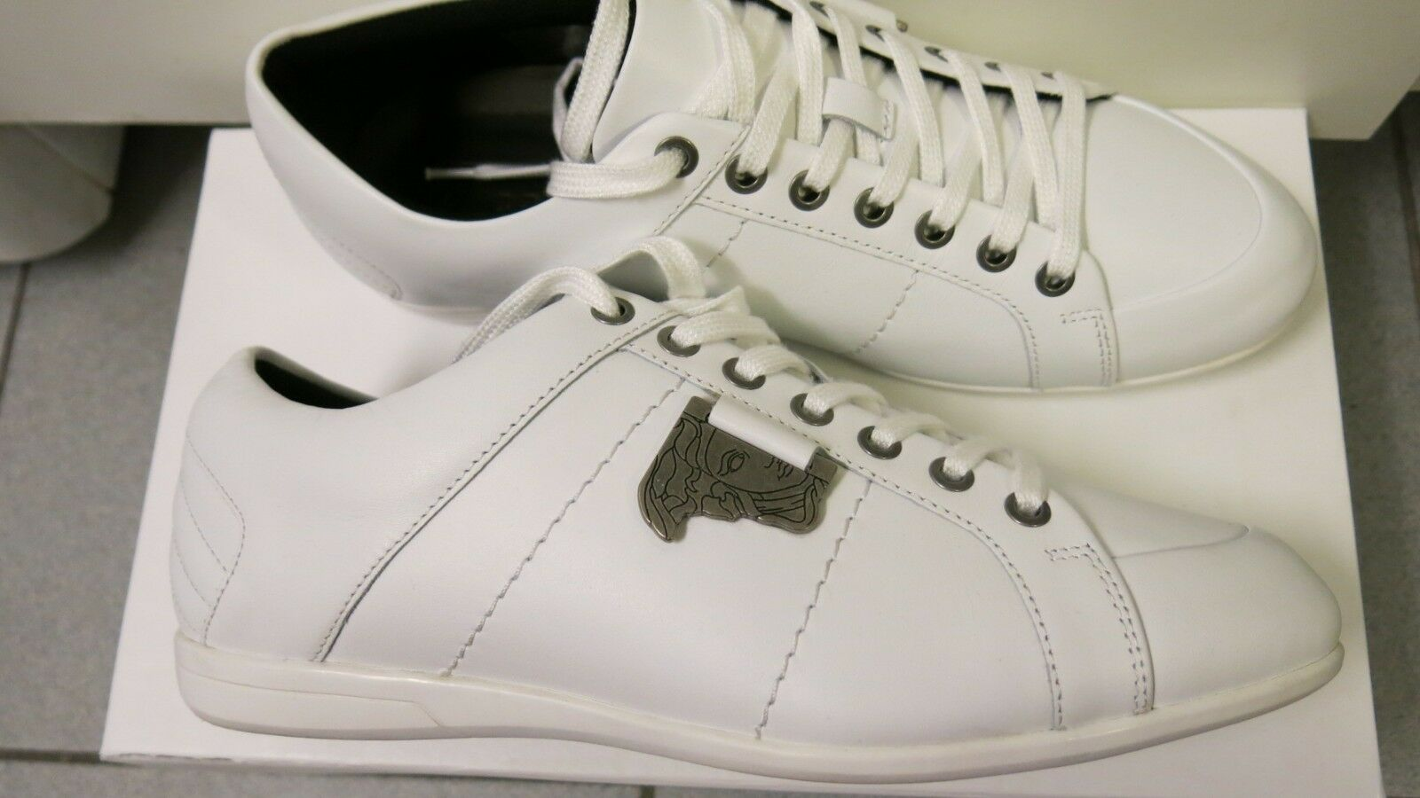 Versace Collection Original Medusa Logo Leather shoes Men's Sneakers UK7 EU41