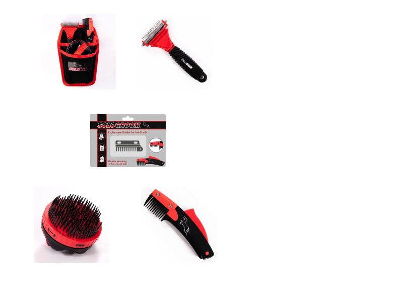 Solo Comb Rake Brush Kit Thinning Shortening Pony Horse - FREE DELIVERY