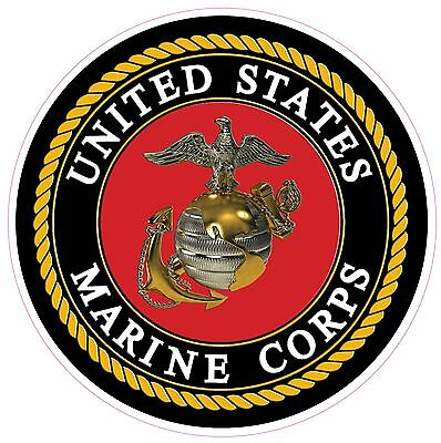 """USMC Marine Corps American Flag Eagle Lettering X Large Decal 24/"""""""