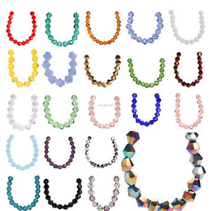 Wholesale-50pcs-8mm-Bicone-Rondelle-Bead-Crystal-Glass-Loose-Spacer-Beads