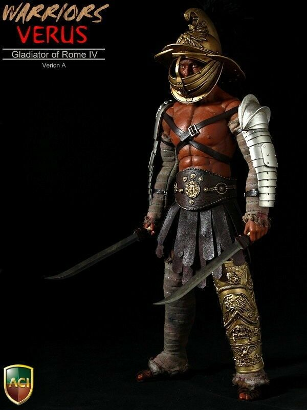 ACI TOYS WARRIOR SERIES GLADIATOR OF ROME IV VERUS 1 6TH ACTION FIGURE TYPE A