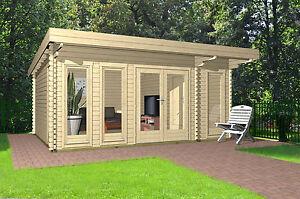 gartenhaus holz 40mm flachdach modern 2 raum haus lingen 40210 ebay. Black Bedroom Furniture Sets. Home Design Ideas