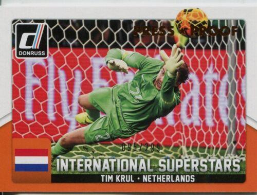 299 superestrellas #46 Tim Krul tarjeta Chase Int Donruss soccer 2015 Bronce