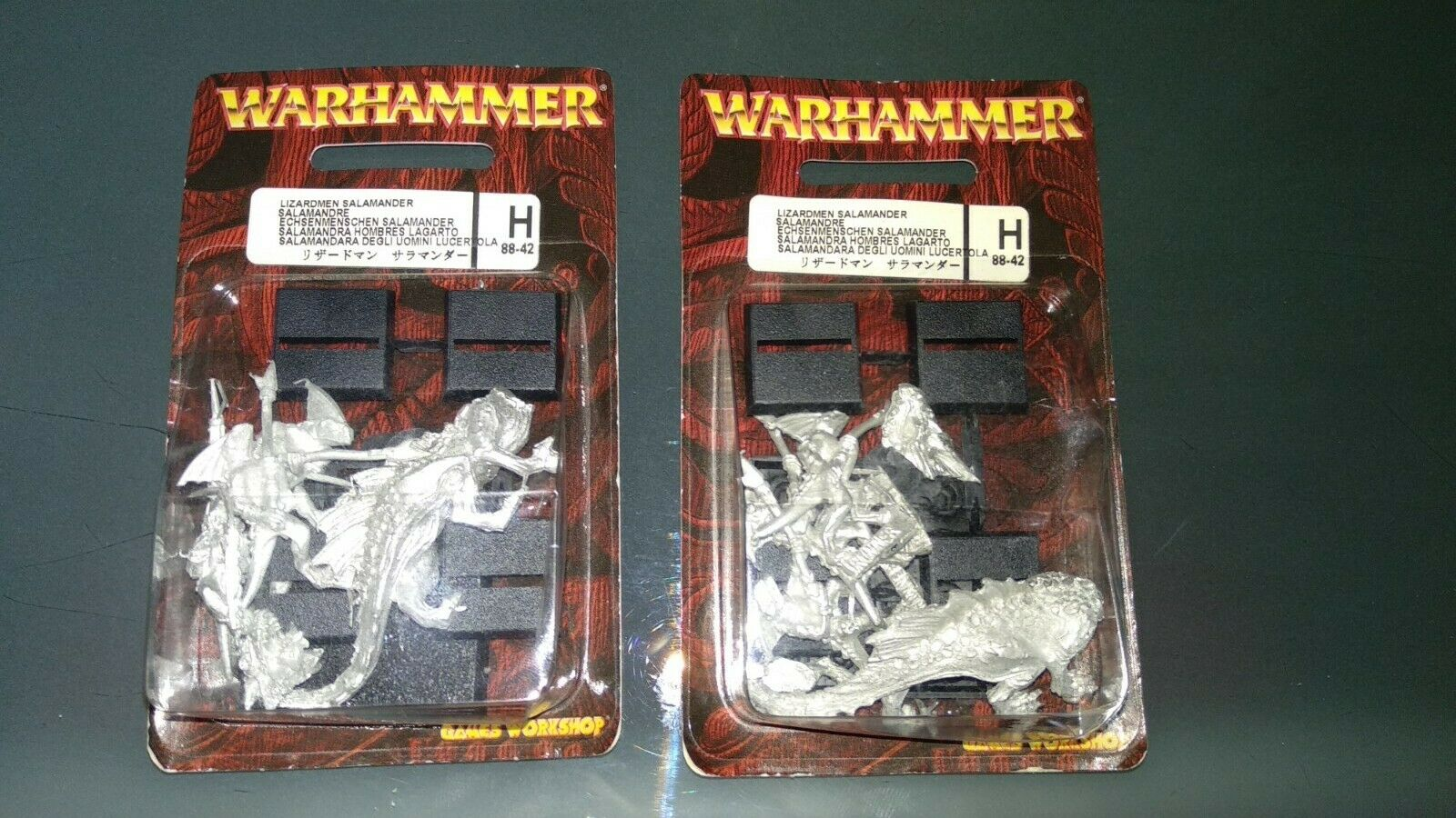 2 Cajas de Lizardmen Salamander Ref 88-42 -Warhammer Fantasy