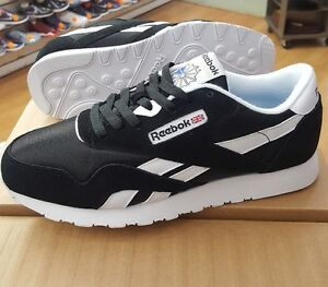 Image is loading REEBOK-CLASSIC-NYLON-6604-BLACK-WHITE-MEN-US- d53493b06
