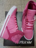 Supra Skytop Pink White Kids Shoes Size 5.5 In Box