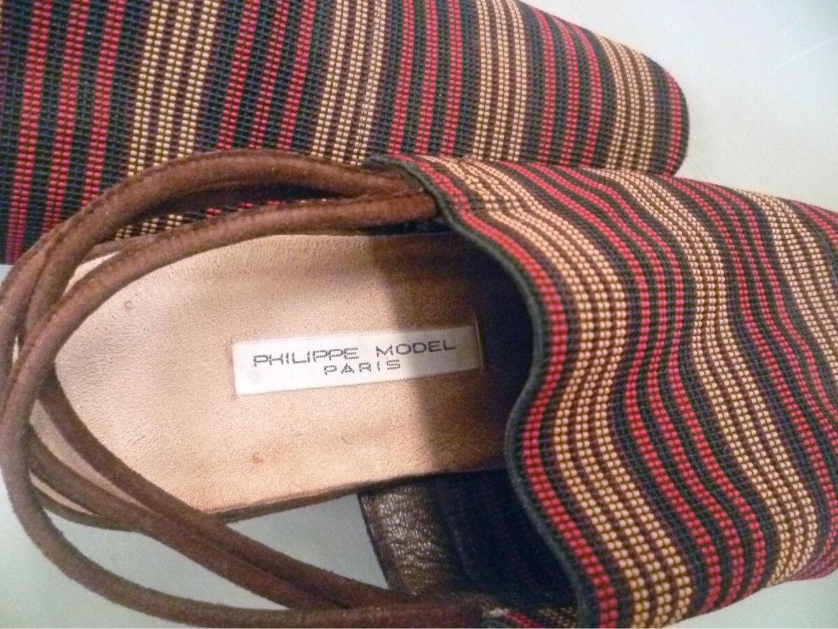 Très belles sandales à brides PHILIPPE MODEL PARIS. 36,5 36,5 36,5 137692